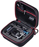 """Smatree® SmaCase G75- Small Case for Gopro Hero, Hero 4, 3+, 3, 2 and Accessories (6.8"""" x2.7"""" x5"""") - Travel & Household Case with Excellent Cut  Foam Interior - Perfect Protection for Gopro Camera- Black & Red"""
