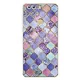 Easbuy Mit Marmor Pattern Handy Hülle Soft Silikon Case Etui Tasche für Huawei Honor 7i / Huawei ShotX Smartphone Cover Handytasche Handyhülle Schutzhülle