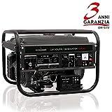 Tecnoware Generatore Elettrico, Monofase 230 Vac, 50 Hz, Motore a Scoppio, Capacità Serbatoio 15 l, 4.200 VA
