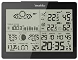 Digital Wireless Weather Station with Radio Control Clock ( UK Version ) and Indoor Outdoor Temperature Thermometer, Humidity , Ice Alert, Sunrise & Sunset / Moonrise & Moonset Times , Barometric Pressure, Graphical Moon Phase Display