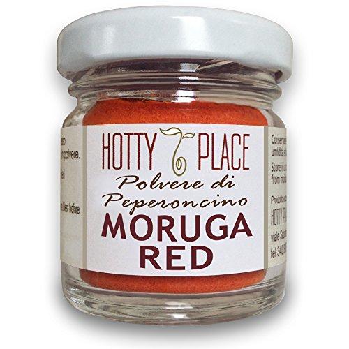 RED MORUGA Chili PULVER 2° Platz im Guinness-Weltrekord Großen Geschmack EXTREME SCHARF im 10g Glas (Red Chili-pulver)