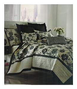 Nicole Miller motif floral Home Onyx–Taies d'oreiller standard Sham