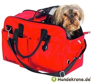 Karlie Sac de transport spécial avion pour chien jusque 12 kg Homologation IATA Protection en Teflon Rouge