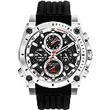Bulova Precisionist Men's Quartz Watch with Black Dial Chronograph Display and Black Rubber Strap 98G172