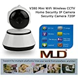 MLD® Super Smart Wireless Hd Ip Wifi Cctv Camera-Remote Monitoring From Android & Ios Smart Phone Supports 64Gb Sd Card