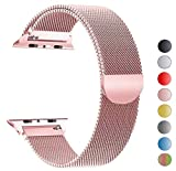 Tervoka Compatible para Correa Apple Watch 40mm 38mm, Correa de Acero Inoxidable Reemplazo de Banda de la Muñeca para iWatch Series 4/3/2/1, Oro Rose