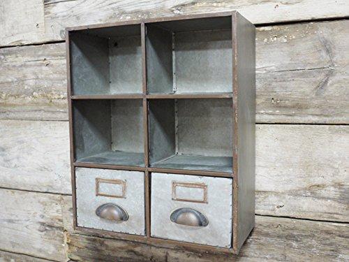 Industrie Möbel Taube Loch + 2Schubladen Schrank Regal Wohnwand