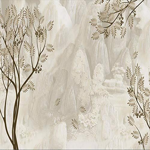 Lifme Fototapete Tapeten Home Decor Benutzerdefinierte Laub Und Baum 3D Minimalistisch Geprägte Vlies Für Tv Hintergrund Raum Küche-150X120Cm