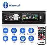 MANLI Autoradio Bluetooth 1 DIN, Stereo Auto 4 x 45 W - Ingresso USB / AUX / Slot Scheda SD - Supporta MP3/FLAC/WMA/WAV - Microfono Integrato Vivavoce - Telecomando per Android iOS, Nero