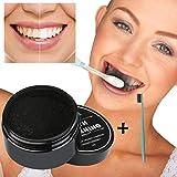 Internet Blanchiment des Dents Poudre Naturelle Charbon de Bois de Bambou Activé Dentifrice + Brosse à dents
