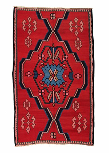 Nain Trading Kelim Soumak 260x152 Orientteppich Teppich Dunkelgrau/Rost Handgeknüpft Russland -