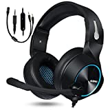 NUBWO Gaming Headset, PS4 Xbox One Headset, Stereo PC Headset Noise Cancelling Gaming