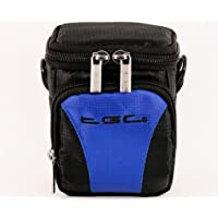 The TGC ® Anti-Shock Camera Case for Sony HDR-CX240E (Jet Black & Electric Blue)