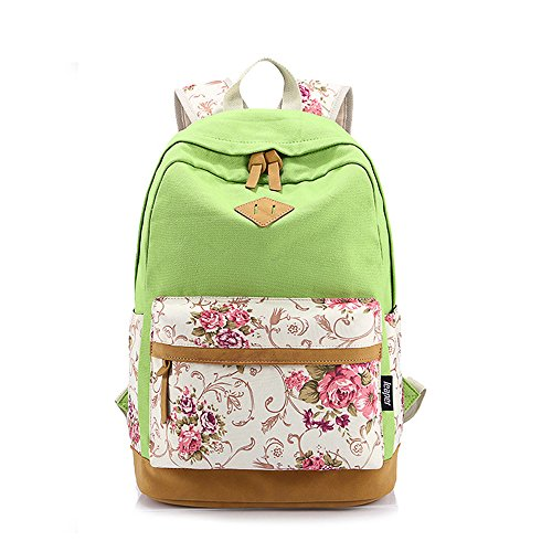FASHION PLAZA, Borsa a zainetto donna 43 x 32 x 16 cm (verde2)