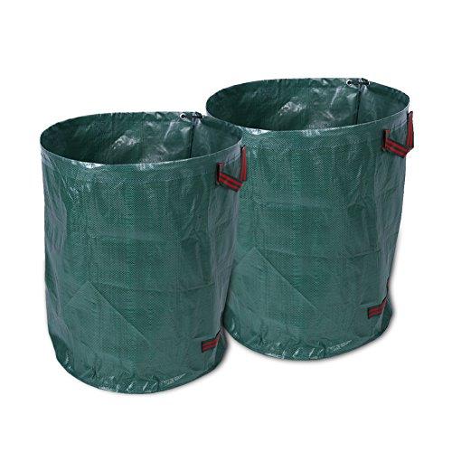 SOULONG Gartenabfallsack, gewebt, 270 l, tragbar, groß, robust, Pop-Up-Gartenabfälle, wasserdicht, wiederverwendbar, Müllsäcke für Gras, Blätter, Bäume, Pflanzen, Unkrauthecken