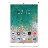 Tablet 10 Pollici offerte 4G WiFi 32 GB Espandibili, 3 GB RAM con Android 7.0 Quad Core, Bluetooth/GPS-Oro
