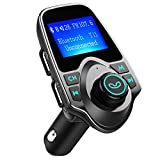 FM Transmitter, VicTsing Car MP3 Player FM Transmitter Bluetooth Handsfree Car Kit Wireless Radio Audio Adapter with Dual USB 5V 2.1A USB Charger, 1.44 Inch LCD Display, 3.5mm Audio Port, TF Card Slot, USB Flash Drive Port For iPhone, iPad, iPod, HTC, MP3, MP4 and Most Devices with 3.5mm Audio Jack