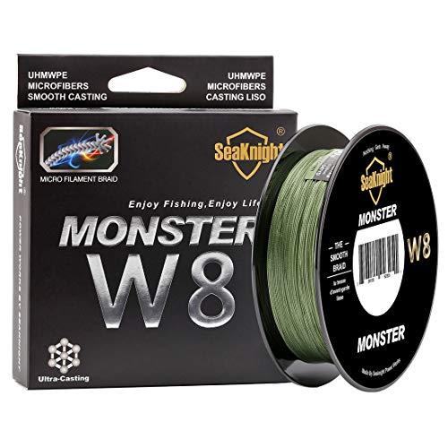SeaKnight Monster W8 sedal Trenzado Pesca 8 Hilos, 300 m, Super Suave, de Polietileno, Hilo Trenzado de multifilamentos para Pesca...