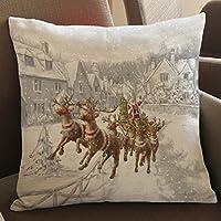 Copricuscini e federe, Kingko® Natale Elk stampa tintura divano-letto Cuscino casa Copricuscino Decor