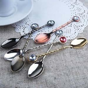 Bheema Rétro Set Auger Vaisselle en acier inoxydable cuillères à thé - Copper