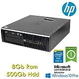 PC HP Compaq 6300 Pro SFF Core i3-3220 8Gb Ram 500Gb DVD Windows 10 Professional con Licenza Simpaticotech MAR Microsoft Authorized Refurbisher (Ricondizionato)
