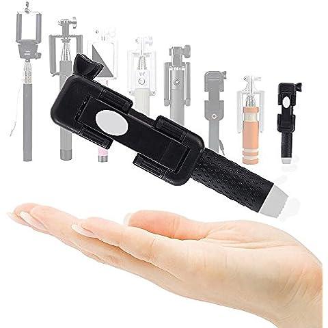 Magicmoon Selfie Stick con Cable de Power Theory para Teléfonos Móviles Android, iPhone 6s, 6 Plus, 5, 5s, 5c, 4, 4s y Samsung Galaxy S3, S4, S5 y S6 Edge Mini. No Precisa Batería ni Bluetooth, Extensible, Telescópico, No Necesita Configuración (Negro)
