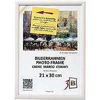 3B Conjunto de 2 Piezas ULM Marco – Blanco - 21x30 cm - Madera Sólida Marcos, Marcos de Fotos