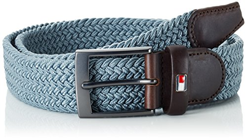 Tommy Hilfiger New Adan Belt, Cintura Uomo, Grau (Flint Stone-PT 905), 95 cm