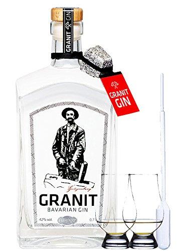 GRANIT Bavarian Gin 0,7 Liter + 2 Glencairn Gläser und Einwegpipette