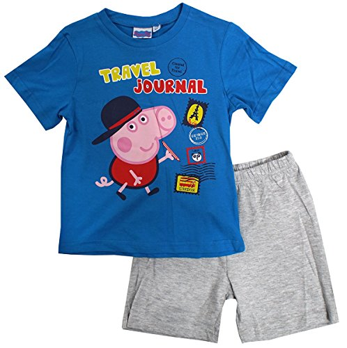 Boys Pyjamas Short Peppa George Pig Ready for The Beach Cotton Pjs Sizes from 3 to 8 Years