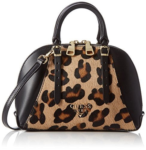 guess-damen-lady-luxe-mini-dome-satchel-henkeltasche-multicolore-leo-multi-taglia-unica