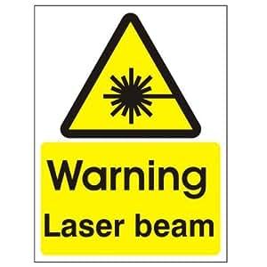 Avertissement Faisceau Laser 150x 200mm Autocollant