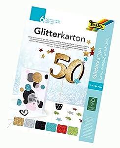 Folia 85139 Bloque básico de cartón Brillante, 300 g/m², 6 Hojas, Aprox. 17,4 x 24,5 cm