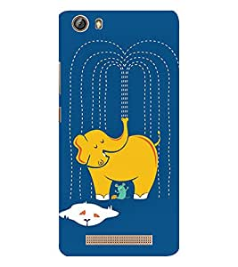 EPICCASE Washing Elephant Mobile Back Case Cover For Gionee Marathon M5 lite (Designer Case)