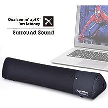 [Actualizado] Avantree Altavoz 10W Aptx Baja Latencia Bluetooth 4.1 Barra de Sonido inalámbrica para portátil, iPad,Mac, Tablets, TV, Superbajos & Efectos de Sonido 3D - Torpedo Plus