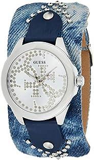 Guess Womens Quartz Wrist Watch, Analog and Leather- W1141L1