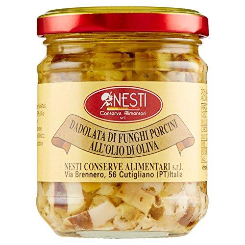 Nesti Conserve Alimentari Dadolata Funghi Porcini all' Olio di Oliva - Pacco da 12 X 190 g