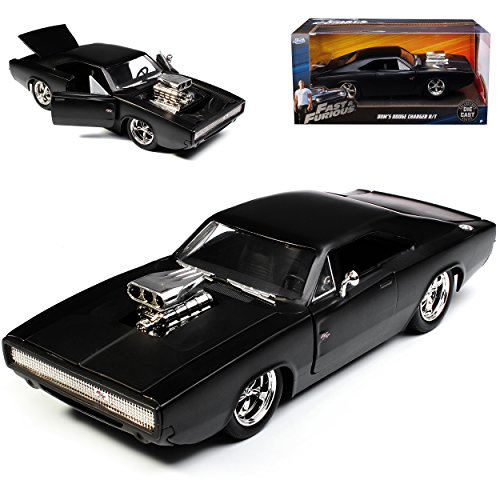 fast and furious modellautos alles-meine.de GmbH Dodge Charger R/T Dom´s Muscle Cars Coupe Matt Schwarz Fast and Furious 7 1970 1/24 Jada Modell Auto