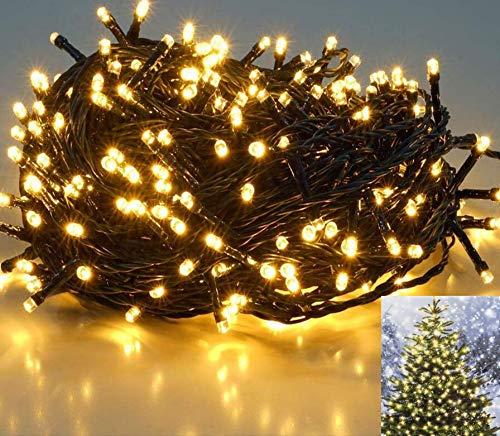 25,7m 360er LED Niedervolt Lichterkette Wasserdichte dekorative Leuchten LED String Licht...