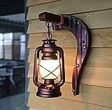 Alte Pferd Lichter, chinesische Stil antike Wand Lampe Schlafzimmer Wand Lampe Retro Balkon Kerosin Lampe Bar Cafe Lampen