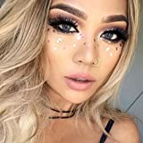 PEPECARE Face Tattoo Sticker Metallic Shiny freckles bronzing Face Art Temporary Tattoo for Glitter Effect Parties Shows (B)