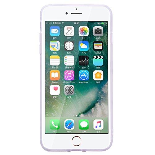 Cover per iPhone 7 Plus / iPhone 8 Plus, VemMore Custodia in Silicone Morbido TPU Case di Ultra Sottile Flessibile Softcase Gel Gomma Protezione Caso con Stent Supporto del Anello del Metallo Copertur Colorato