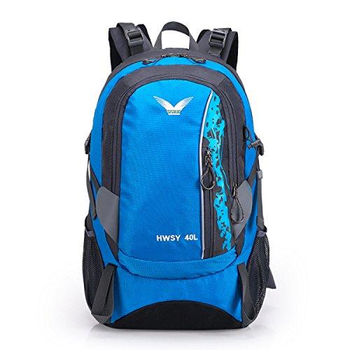 Mode Sport Bergsteigen Tasche Wasserdicht Nylon Reise Rucksack Blue