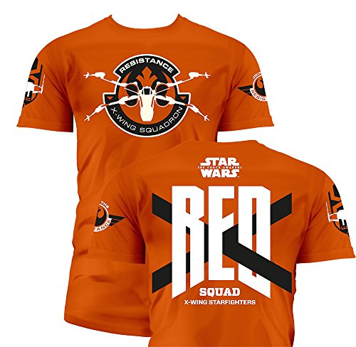 SD toys - T-Shirt - Star Wars Episode 7- Homme Red Squad Orange Taille M - 8436546899327