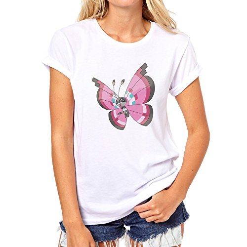 Pokemon Venonant Bug Poison Pink Wings Damen T-Shirt Weiß