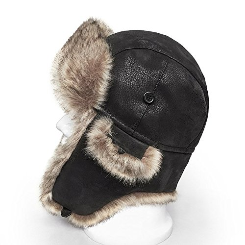 June's young Beanies Thicker Ski Cap Trapper Bomber Hat Russian Hat