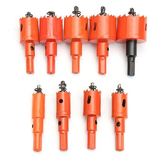 Preisvergleich Produktbild EsportsMJJ 9St. M42 16-38 mm HSS Bohrung Saw Fräser Lochsäge Set Für Holzbearbeitung Aluminium Eisen