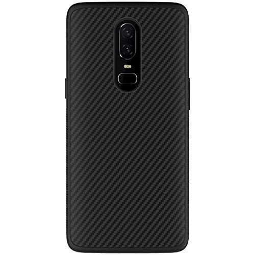 Nillkin OnePlus 6Fall, [Carbon] [kompatibel mit magnetische Autohalterung] Kunstfaser Premium Bumper Back Cover für OnePlus 6schwarz Nillkin Fall