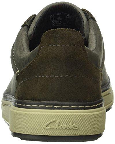 Clarks Lorsen Edge, Sneakers Uomo Grigio (Grey Combi Leather)