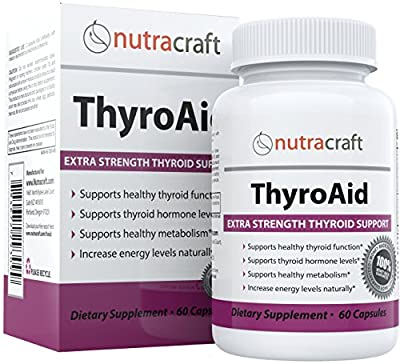 Thyroid Support Supplement - 100% MONEY BACK GUARANTEE & FREE SHIPPING - Natural Herbal Formula To Improve Thyroid Function With L-Tyrosine, Kelp (Iodine), Ashwaganda (Withania), Selenium, B-12 and Vitamin D to Support a Healthy Metabolism, Reduce Fatigue
